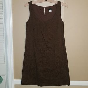 J. Crew brown embossed cotton piazza dress size 4